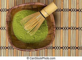 verde, matcha, em, Um, bowl, ,