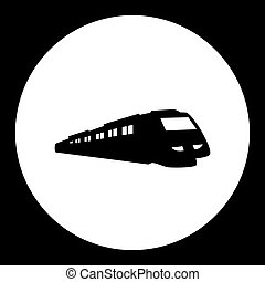 speed train public transport silhouette icon eps10