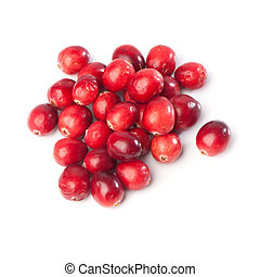 Heap of fresh red cranberries