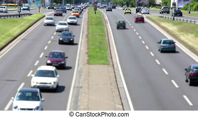 Cars Traffic full HD video - Cars Traffic on the highway in...