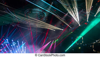 colorful and vivid stage spotlight