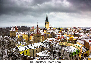 View of the old town Tallinn