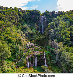 Cascata Delle Marmore waterfalls in Terni, Umbria, Italy