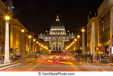 The Papal Basilica of Saint Peter in the Vatican Basilica...