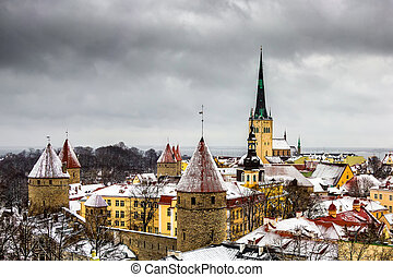 View of the old town. Tallinn