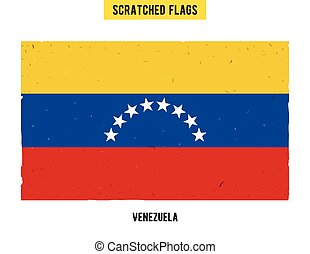 Venezuelan grunge flag with little scratches on surface. A...