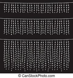 Chalkboard Hanging String Lights Se - Set of hanging string...