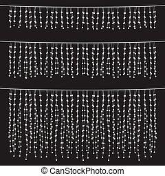 Chalkboard Hanging String Lights Se - Set of hanging string...