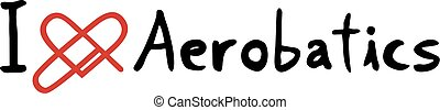 Aerobatics love symbol - Creative design of Aerobatics love...