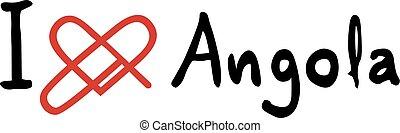 Angola love icon - Creative design of Angola love icon