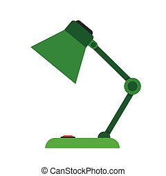table-lamp, desk lamp, - Reading-lamp Single flat icon on...