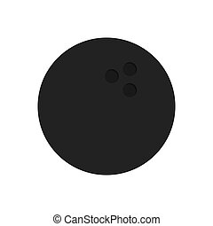 Bowling Ball icon - The bowling icon. Game symbol. Flat...