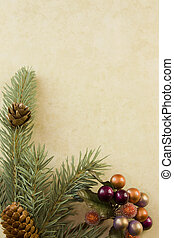 fir branch holly accent corner - Christmas corner frame with...