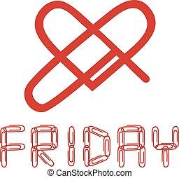 friday love symbol - Creative design of friday love symbol