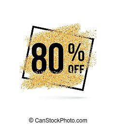 Gold Placer - Gold Discount Background for Sale Sign with...