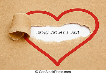 Happy Fathers Day Torn Paper Concept - The text Happy...
