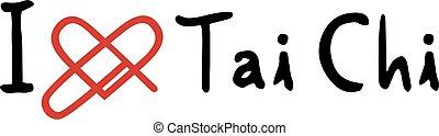 Tai Chi love icon - Creative design of Tai Chi love icon