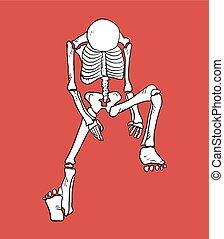 tired skeleton - Creative design of tired skeleton