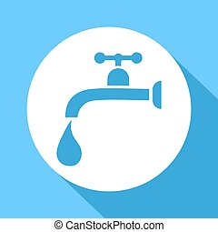 water tap flat icon - Creative design of water tap flat icon