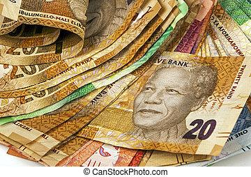 sélection, de, utilisé, sud, africaine,...