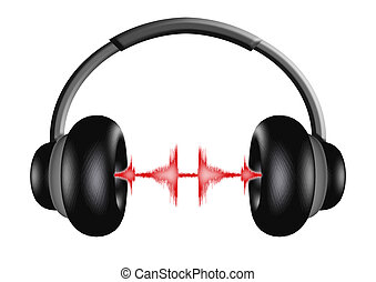 Headphones 3 - 3D illustration of a pair of headphones with...