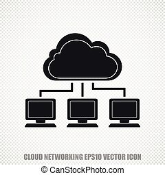 Cloud computing vector Cloud Network icon Modern flat design...