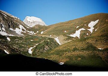 Pyrenees - Peak in the Pyrenees, Aragues Valley, Aragon,...