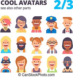 Set of cool avatars. 2 of 3. See also other parts.