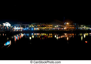 Night view of Hoi An, Vietnam - Night view of Hoi An town...
