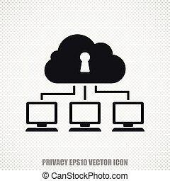 Security vector Cloud Network icon Modern flat design - The...