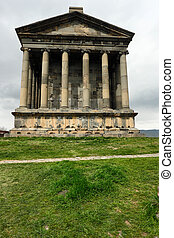 Ancient Garni pagan Temple, the hellenistic temple in...