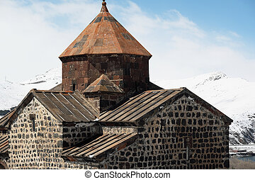 Ancient monastery Sevanavank in Armenia - Ancient monastery...