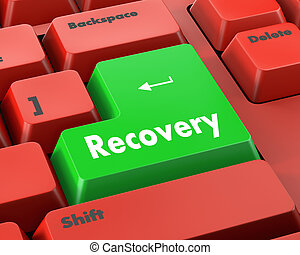 Recovery - Business concept: Recovery key on the computer...