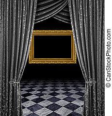 Silver stage golden frame