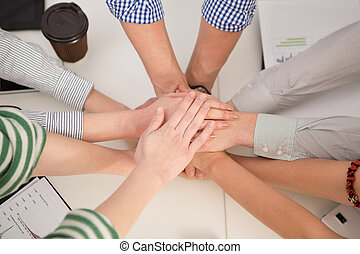 Team work in office - Team work concept Business people...