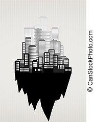 urban city black