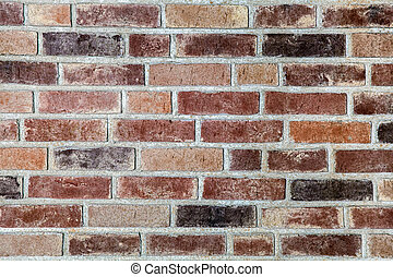 Red brick wall background - Red brick wall in a row abstract...