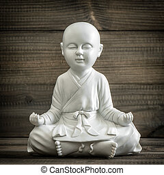 Sitting buddha. Meditation and relaxing concept vintage -...