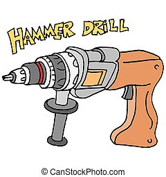 hammer power drill - An image of a hammer power drill.