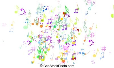 Abstract Background with Music notes The label notes