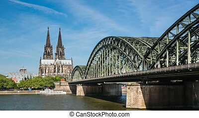 Cologne Cathedral Zooming Time Laps - Time Lapse Sequence of...