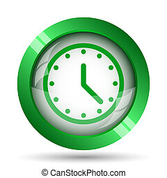 Clock icon Internet button on white background
