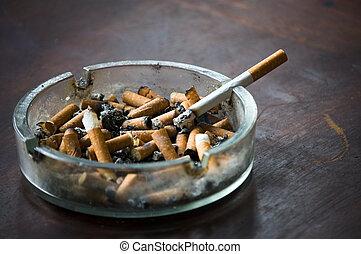 avsluta, askkopp, cigarett, kolv, homofil