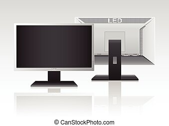 High Definition LED Monitor. - Front and Back of High...