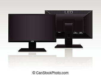 High Definition LED Monitor - Front and Back of High...