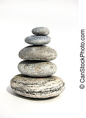 zen object - zen like stones, stock of pebbles, isolated...
