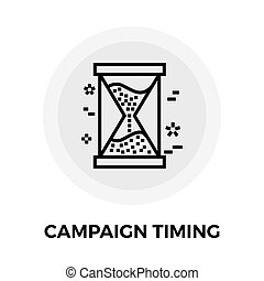 Campaign Timing Icon - Campaign Timing Services icon vector...