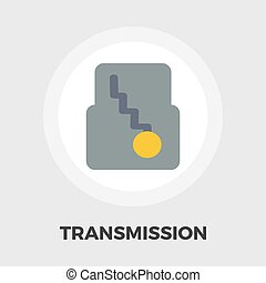Automatic gear flat icon - Automatic gear icon vector Flat...