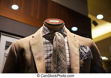 Elegant male suit - Close up of elegant male suit made in...