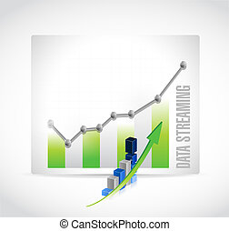 data streaming business graph sign concept